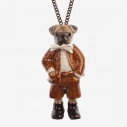 And Mary Pug Boy Charm Necklace