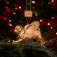 Pugs Might Fly Tree Decoration (Copper)