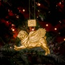 Pugs Might Fly Tree Decoration (Gold)