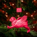 Pugs Might Fly Tree Decoration (Pink)