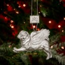 Pugs Might Fly Tree Decoration (Silver)
