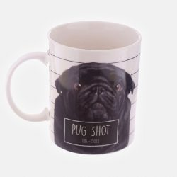 Jack Evans Pug Shot Bone China Mug (Black)