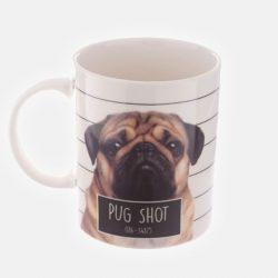 Jack Evans Pug Shot Bone China Mug (Fawn)